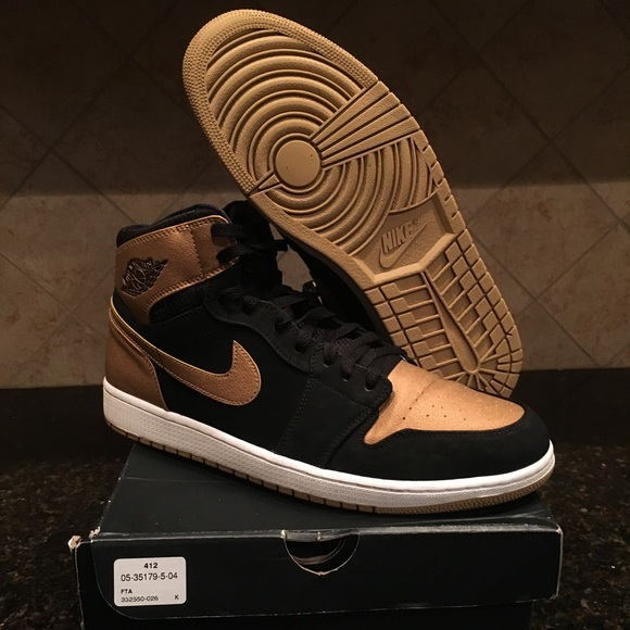 Jordan Other - Jordan 1 Melo OG High Mens Size 13 Black Gold Nice 402533f04